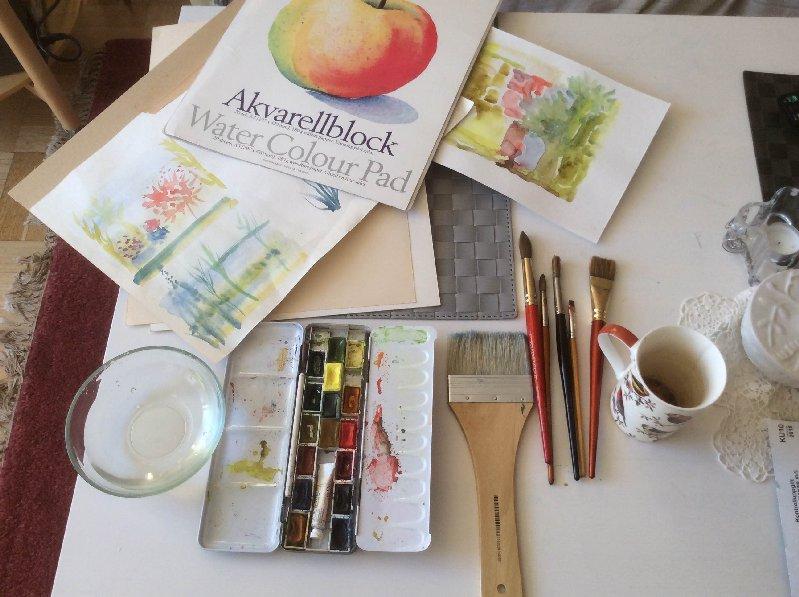 Helgkurs i akvarellmålning